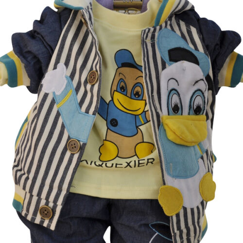 Toddler Boy 3 PC Outfit Set Donald Duck Suit Size 1-4 Years Jacket+Top+Jeans!