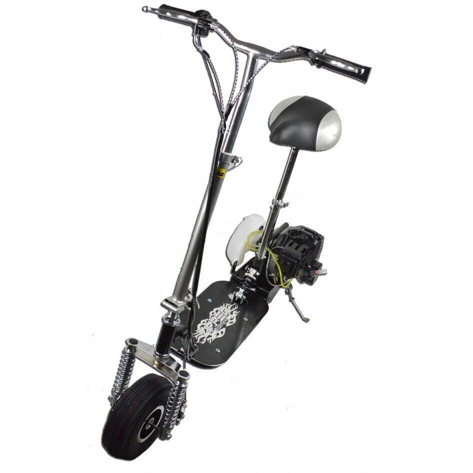 49cc Benzina Scooter Con Sospensioni 50cc 2 tempi Top Speed 35kmh Heavy Duty