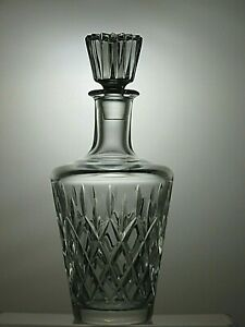 CUT-GLASS-LEAD-CRYSTAL-WINE-DECANTER-WITH-STOPPER-10-1-4-034-TALL
