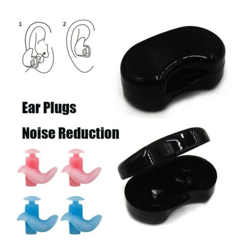 Silicone Anti Noise Foam Soft Ear Plugs For Swim Sleep Work With Box Reusable