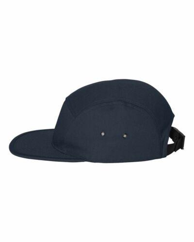 Yupoong Jockey Flat Bill Cap 100/% cotton 5 panel Jockey style Men/'s Hat 7005