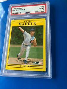 1991-Fleer-Greg-Maddox-426-PSA-9-HOF