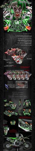 "KAWASAKI 1988-2004 KX500 /""LUCKY/"" GRAPHICS WRAP DECAL KIT FITS OEM PARTS"