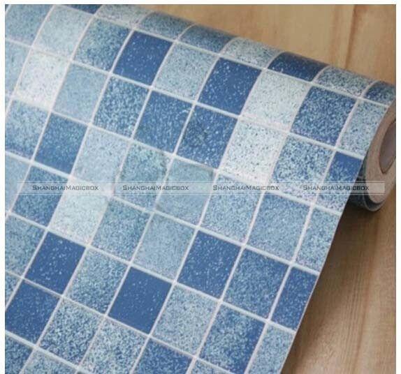 45*100cm Mosaic Wallpaper Tile Transfers Stickers Square Kitchen Tiles