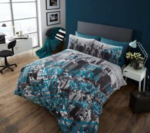 New-York-Premium-Bed-Set-with-Duvet-Cover-and-Pillow-Cases-Double-Size