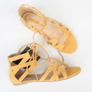 794dad7df3f Image is loading Forever-21-Ladies-Suede-Look-Strap-Sandals-US-