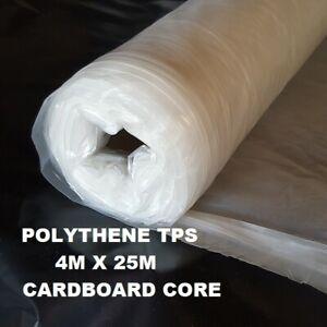 Clear 25m Builders Polythene Plastic Dust Sheet Roll