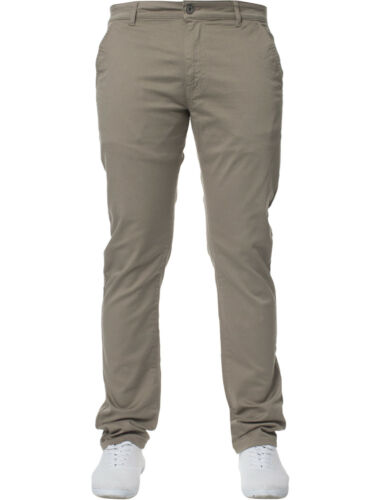 New Mens Enzo Jeans Super Skinny Slim Fit Chinos Stretch Trousers Pants