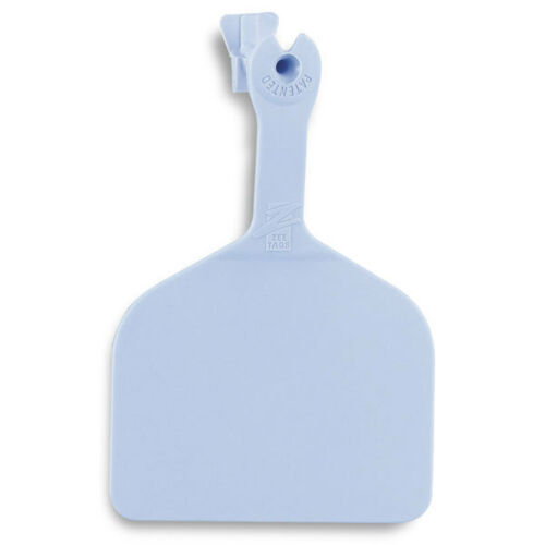 Z-TAG FEEDLOT ONE PIECE Cattle//Cow Blank Ear Tags BLUE 50 Count