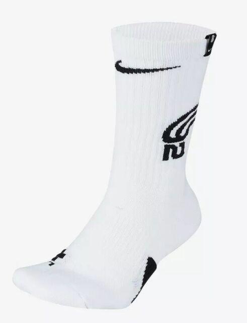 Nike Kyrie Elite Crew Basketball Socks SK0077 100 Men's Size 8-12