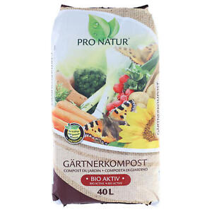 PRO NATUR Gärtnerkompost 40 L torffrei Gartenkompost Kompost Blumenerde Erde