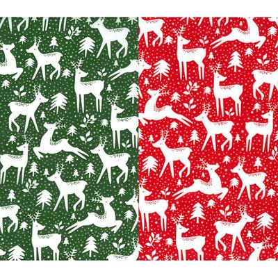 100/% Cotton Christmas Fabric Material Reindeer Star Santa Snowflake Fat Quarter