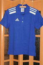 Nuevo!!! Polo Shirt para señora de Adidas en tamaño 32 azul con blanco 100% algodón