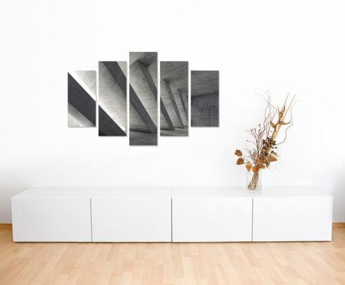 Wandbild Architekturfotografie Beton mit diagonalen Streben auf Leinwand