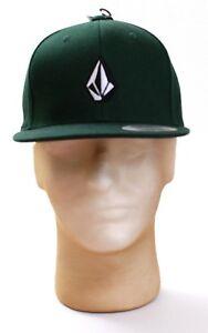 Volcom-Logo-Gruen-Full-Stone-Baumwolle-Baseball-Kappe-Hut-Erwachsene-Snapback-One-Size-Nwt