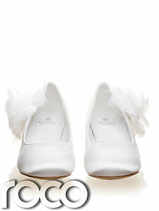Girls-White-Shoes-Communion-Shoes-Kitten-Heel-Shoes-Prom-Shoes-Kids-Shoes