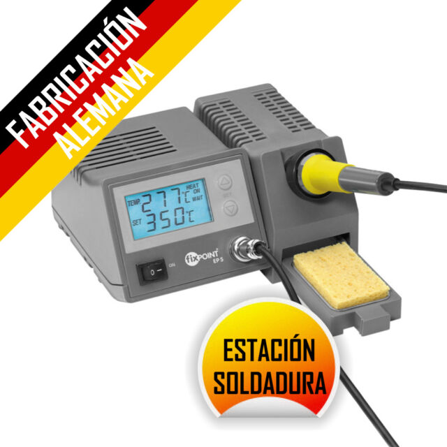 SOLDADOR 48W FIXPOINT + ESTACION DE SOLDADURA DIGITAL REGULABLE 150 - 450 ºC
