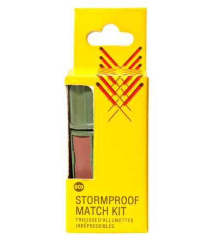 UCO Stormproof Match Kit Yellow with 25 Windproof Waterproof Emergency Lot of 3