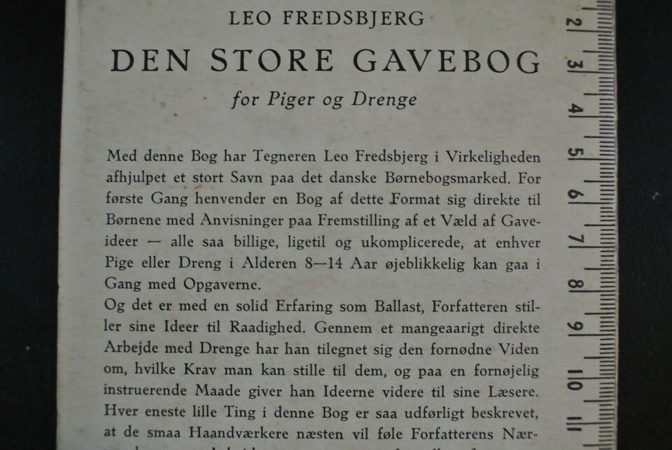 den store gavebog for piger og drenge, leo fredsbjerg,