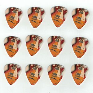 12-Pack-GIBSON-LES-PAUL-CLASSIC-USA-Medium-Gauge-351-Guitar-Picks-Plectrum