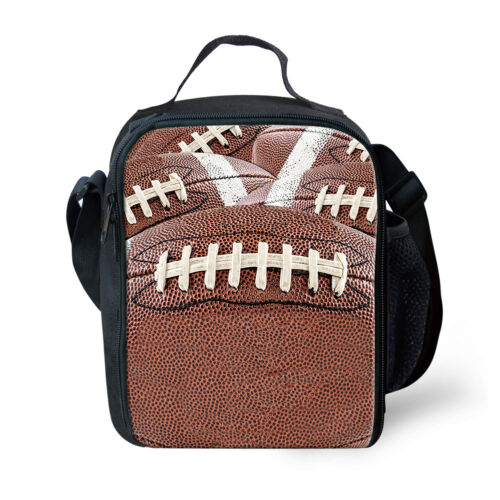 Rugby Baseball Design Refroidisseur Isolé Déjeuner Sac épaule Nourriture Conteneur de stockage