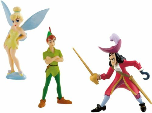 Bullyland Disney Peter Pan cuisine 3 personnages Hook Tinkerbell Pan Pays Imaginaire