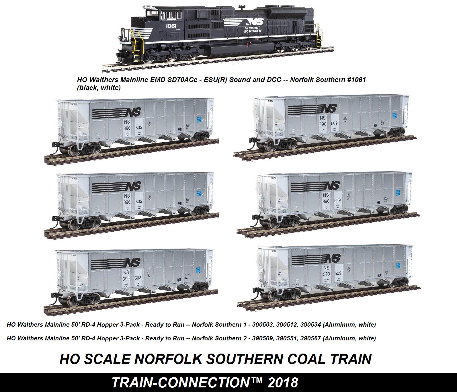 compras online de deportes Escala Escala Escala Ho Norfolk Southern Conjunto de tren de carbón  apresurado a ver