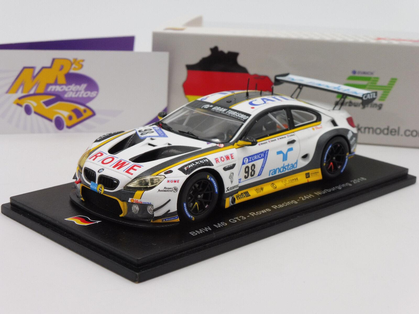Spark SG420 BMW M6 GT3 Nr. 98 24h Nürburgring 2018   N. Catsburg   1 43 NEU