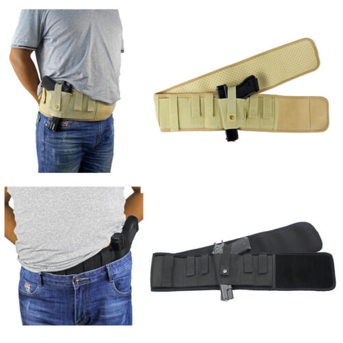 "47/""//57/"" Concealed Carry Belly Band Holster Waist Pistol Gun Holster"