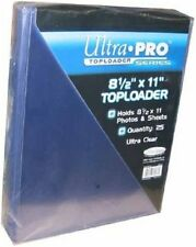 "Ultra pro 8 1/2"" x 11"" top loaders pack of 5 new toploaders"