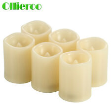Ollieroo 6 Pcs Flameless Flickering LED Votive Candle Timer without Remote