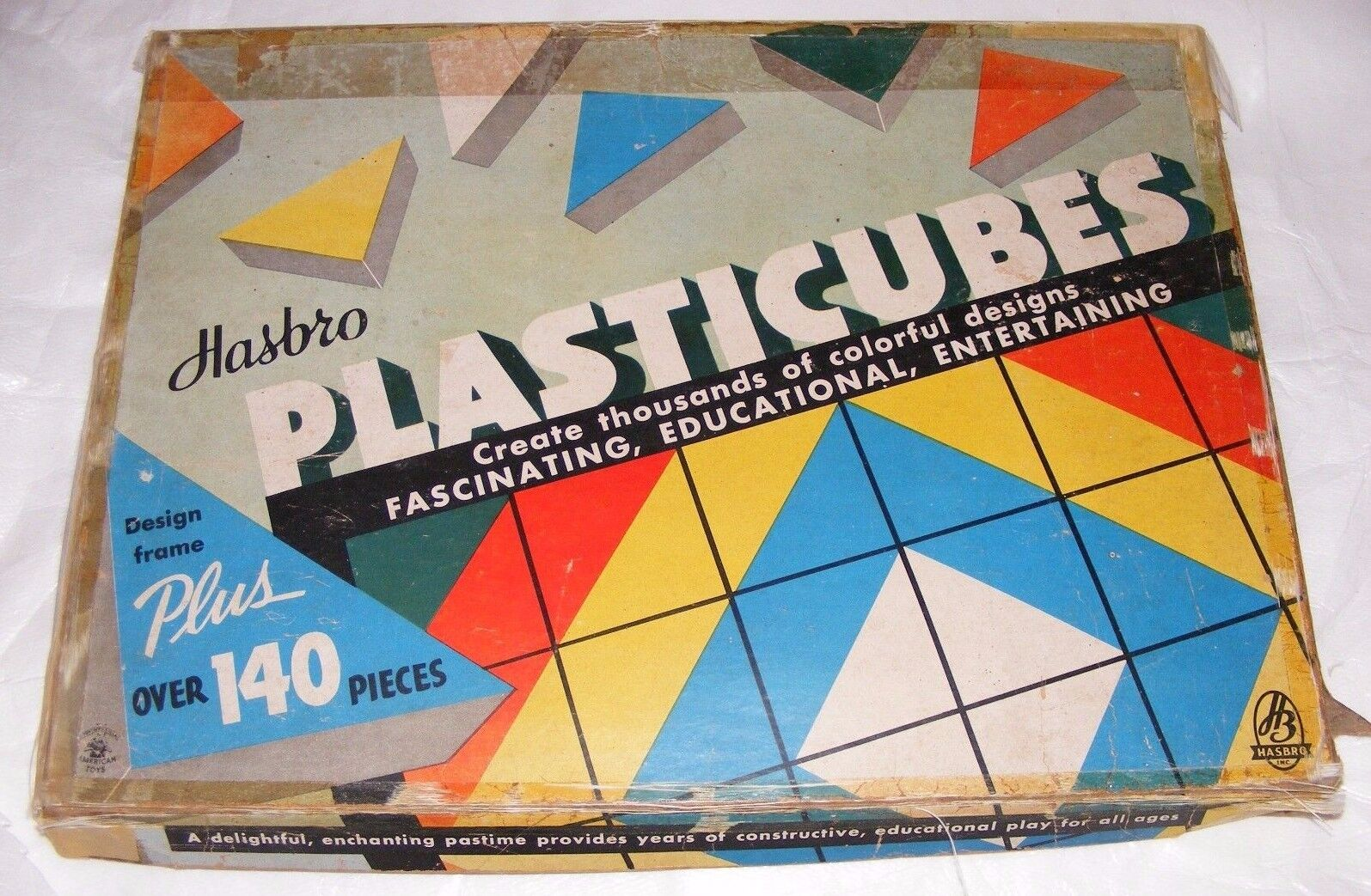 RARE Plasticubes Game by Hasbro No. 1880