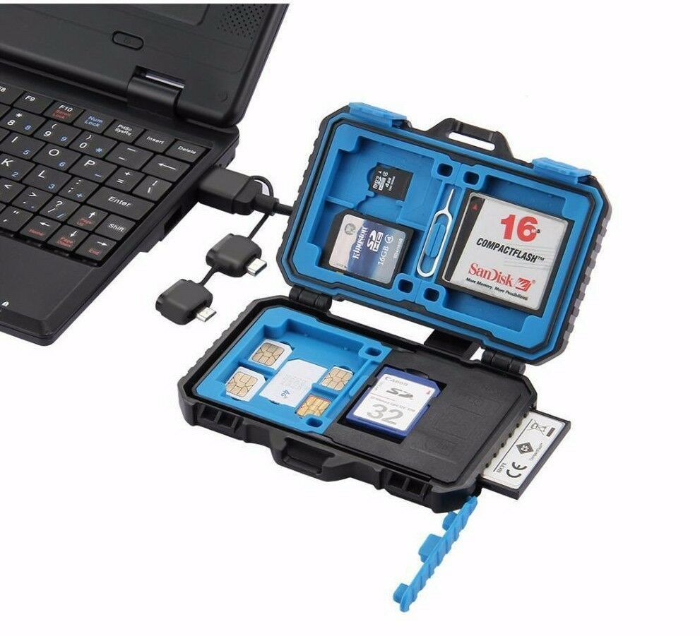 Card Reader Memory Case Reader Waterproofs Nano Cf Sd Tf Storages Box Micro Sim