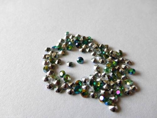 100 Diamanten Streudeko  Tischdeko  Grün  3 mm Basteln  Kartengestaltung Neu