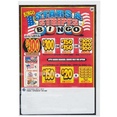 Bingo Pack 1 Window Pull Tab 960 Tickets Payout $360 ...