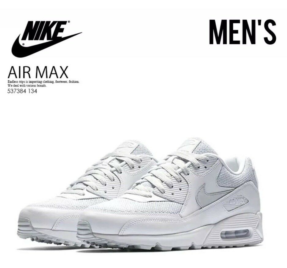 Nike Air Max 90 Essential Men's Running shoes White Pure Platinum Size 9.5 US