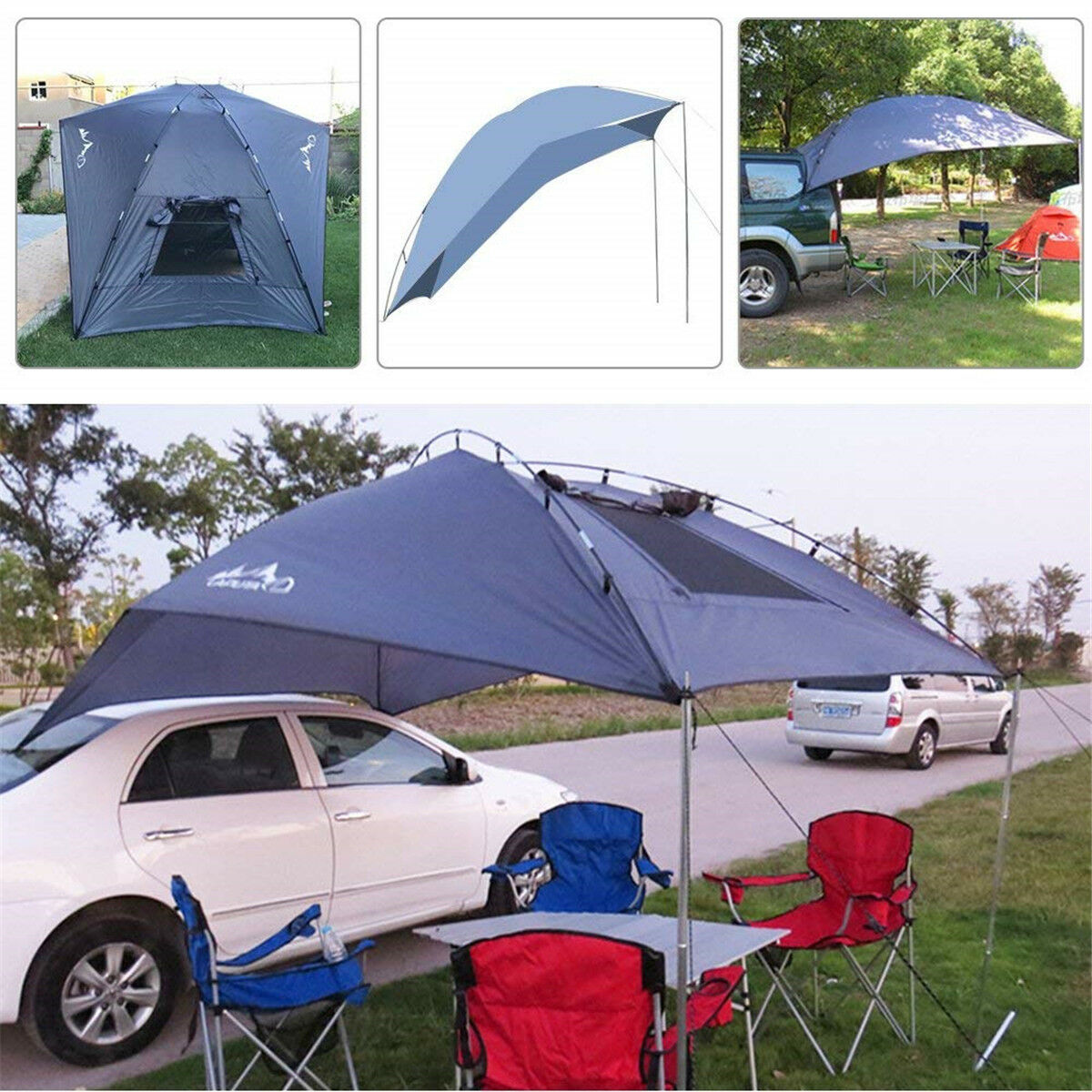 Waterproof Trailer Awning Car SUV Roof Tent Sun Shelter Durable Camping Canopy
