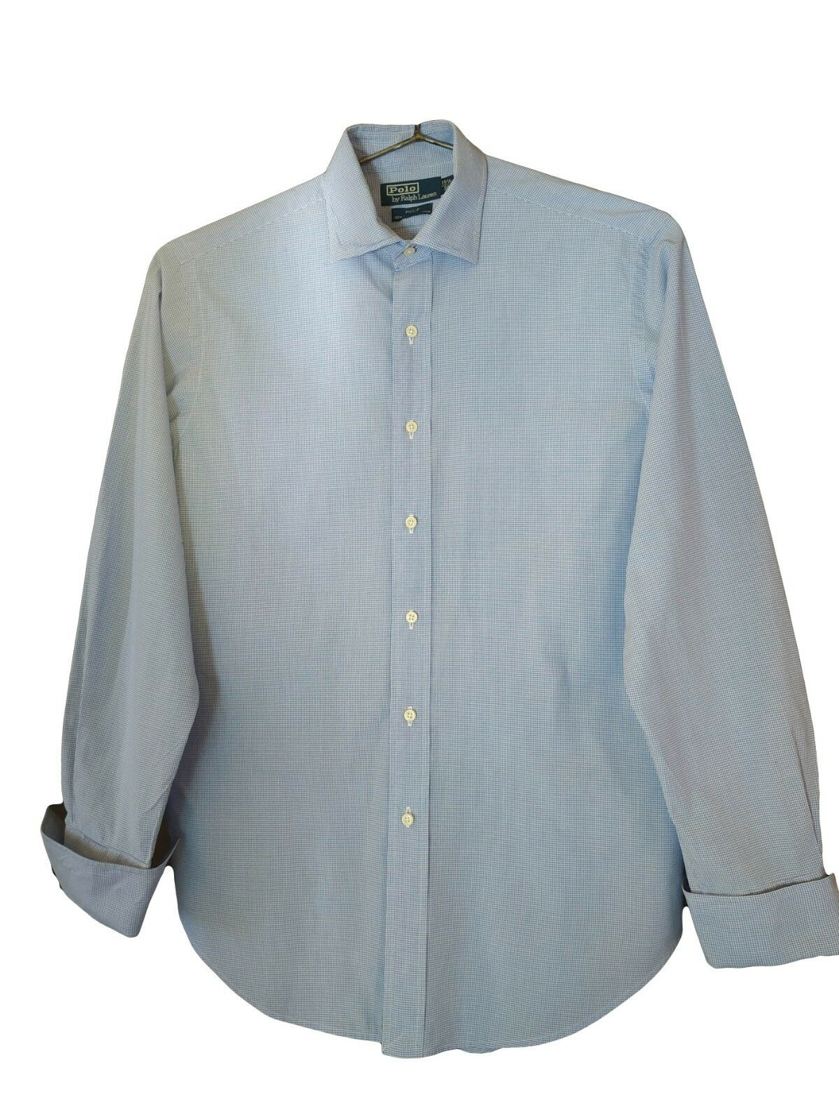 Genuine POLO by RALPH LAUREN Men's bluee Cotton Formal Shirt size 15.5