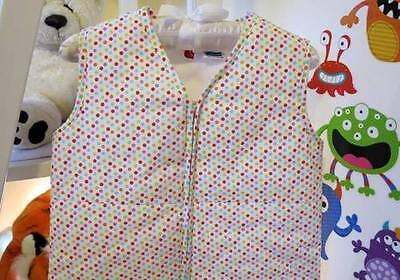 COZY TOUCH Baby Sleeping Bag 0.9 TOG COLOURFUL POLKA DOTS 6-8 YEARS