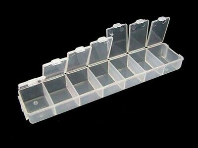 New Clear Acrylic Empty Bead Storage Containers 7 Compartments Findings Craft