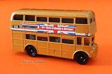 2008 Matchbox Loose Routemaster Bus Metalflake Tan Union Jack 55 Combine Ship
