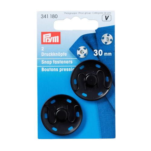 Prym Annäh-Druckknöpfe 30 mm schwarz 2 St 341180