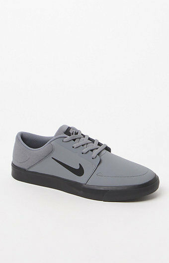 MEN'S GUYS NIKE SB PORTMORE NB GRAY SKATEBOARDING SHOES SNEAKERS NEW Price reduction Seasonal price cuts, discount benefits