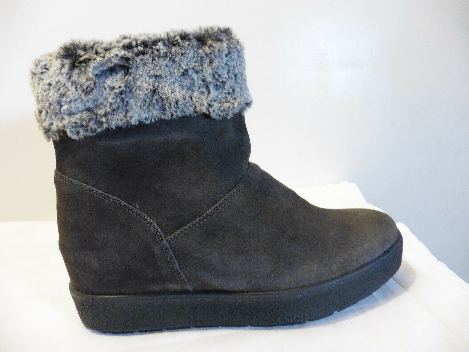 """John Lewis """"Quincy"""" Grey Suede Faux Fur Lined Ankle Boots Size 7 BNIB RRP"""