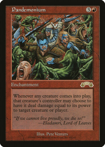 Pandemonium Exodus NM-M Red Rare MAGIC THE GATHERING MTG CARD ABUGames
