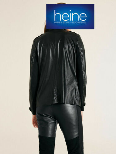 Kp 59,99 € SALE/%/%/% Giacca CORTA DA in finta pelle di Heine Casual NUOVO!! NERO