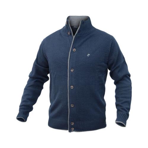 Maglione da Uomo a Lupetto Mezza Zip collo alto con Bordino blu Greenland