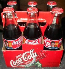 Micheal Waltrip #15 Coca Cola Glass Bottles 8 oz. 6 pack Carrier Nascar Racing