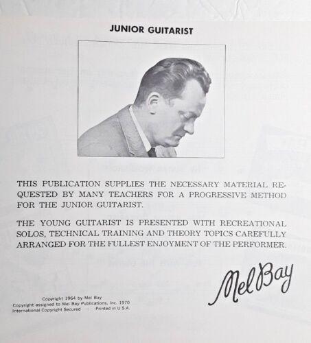 "/""JUNIOR GUITARIST/"" NEW INSTRUCTION BOOK MEL BAY"
