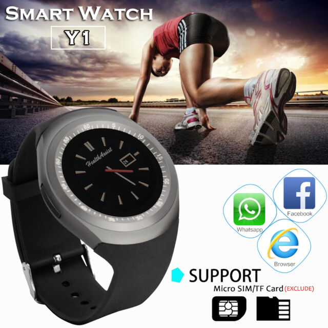 Fashion Y1 Bluetooth Smart Wirst Watch GSM Phone Mate Pedometer For Android iOS